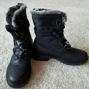 Steve Madden Women's Rama Black Nubuck Sz 6 Boots